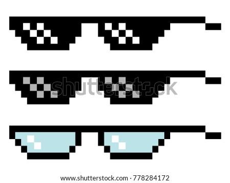 pixel glasses set three pairs