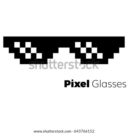 pixel glasses  vector icon