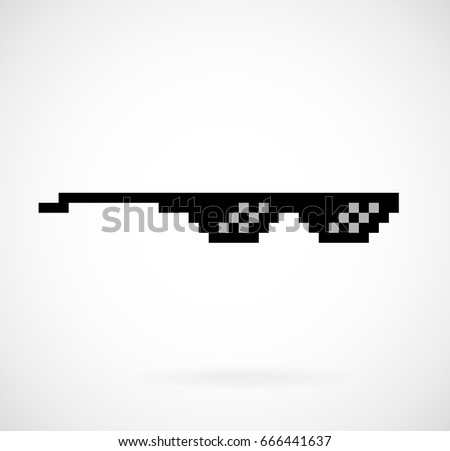 pixel glasses vector meme