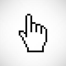 pixel hand  - vector icon