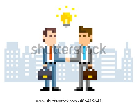 pixel illustration  business