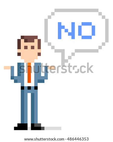 pixel illustration  businessman