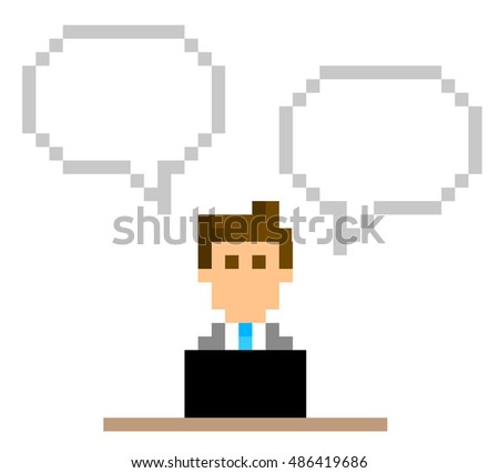 pixel illustration  businessman
