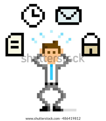 pixel illustration  busy