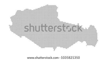 pixel map of tibet vector