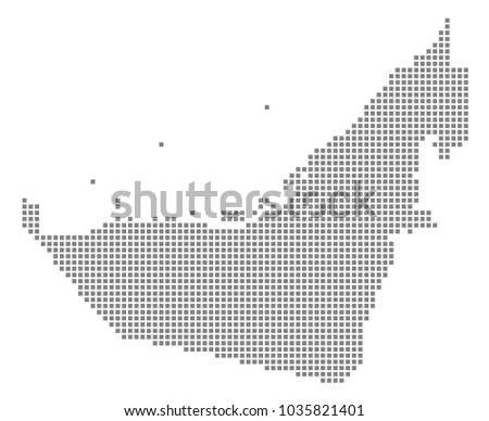 Free Dotted UAE Map Vector - Download Free Vector Art, Stock ...