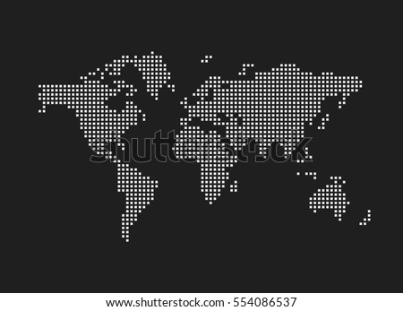 pixel map of world dotted