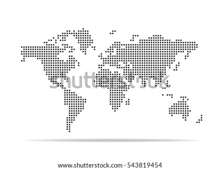 Vector dotted global world map download free vector art stock pixel map of world dotted world map vector illustration gumiabroncs Gallery