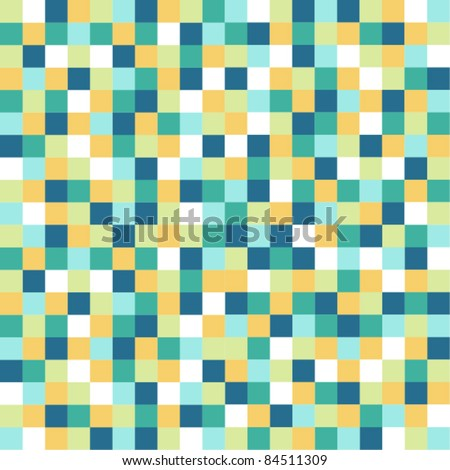 Pixel pattern with stylish turqupise color tones