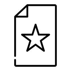 Pixel perfect star wishlist line icon. Vector illustration