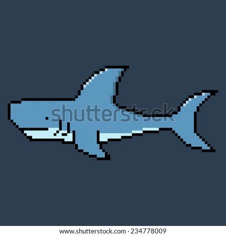 pixel shark