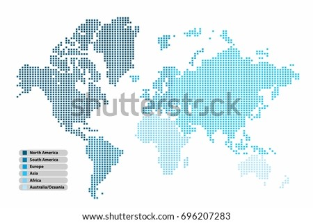 Free vector pixel world map download free vector art stock pixel square shape world map continent in multicolor on white background vector illustration gumiabroncs Image collections