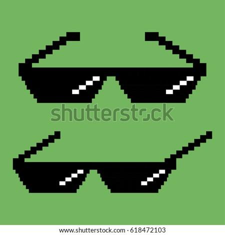 pixel sunglasses  flat design