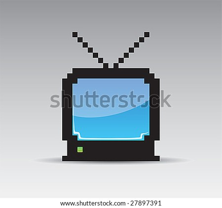 Pixel TV with the blue screen