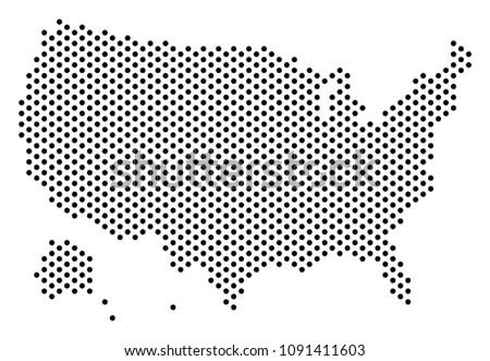 pixel usa with alaska map