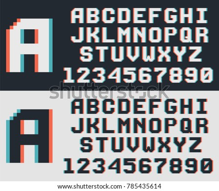 pixel video game font  retro 8