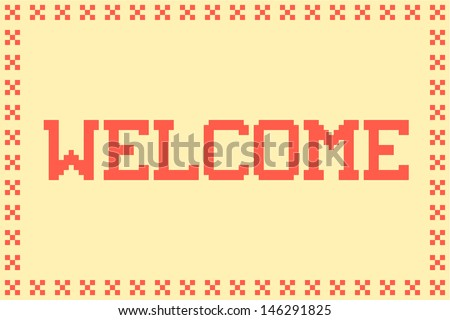 pixel welcome matt in with a