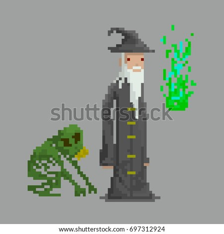 pixel wizard necromancer for