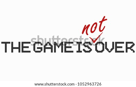 pixel words 'the game is over'