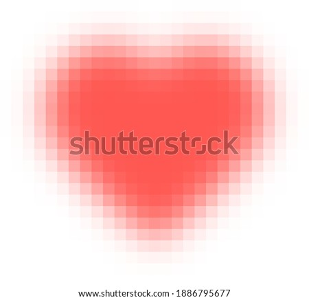 pixelated blurred red heart