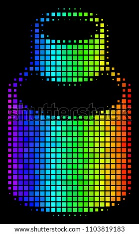 pixelated bright halftone vial