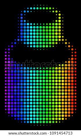 pixelated colorful halftone
