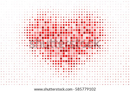 pixelated heart pattern as a