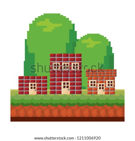 pixelated video game