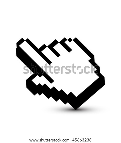 Pixeled hand pointer