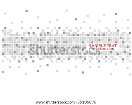 Pixels - stock vector