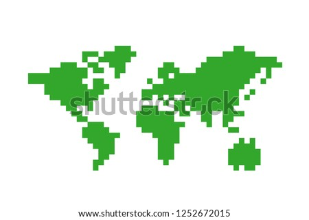 pixels  map of the world