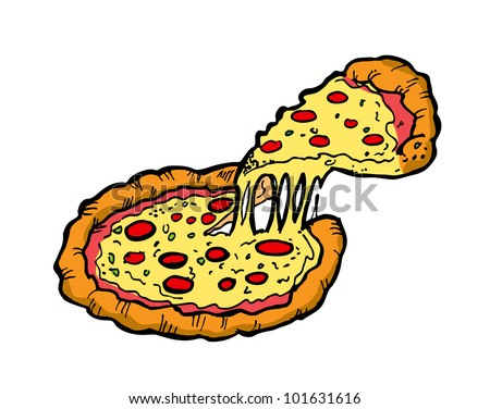 pizza stock vector illustration 101631616 shutterstock. Black Bedroom Furniture Sets. Home Design Ideas