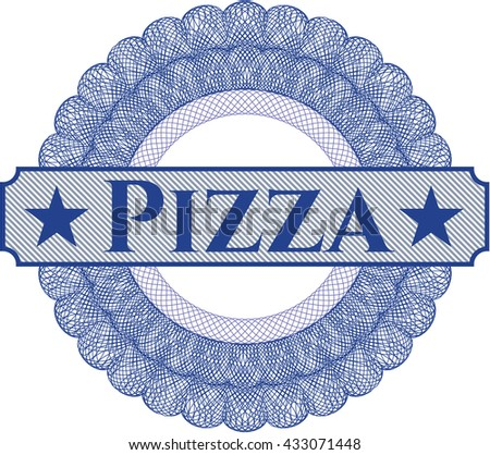 Pizza abstract rosette