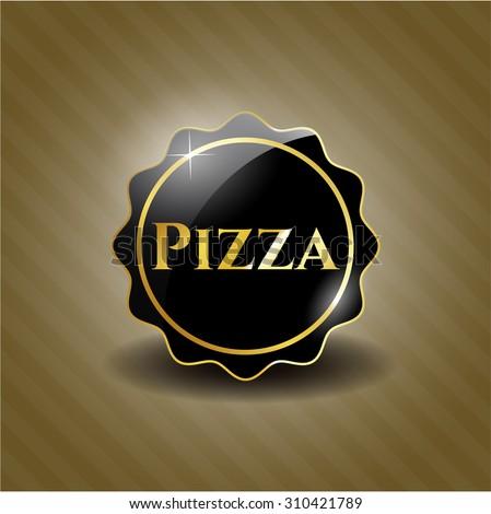 Pizza black shiny emblem