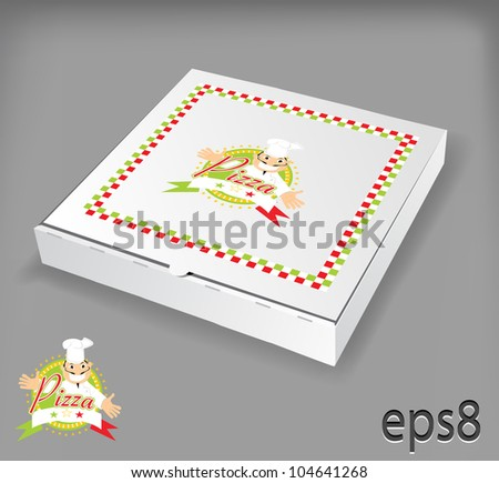 Pizza box - stock vector