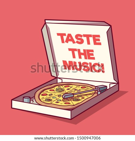 pizza box as a turntable vector