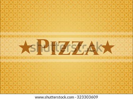 Pizza card, colorful, nice desing