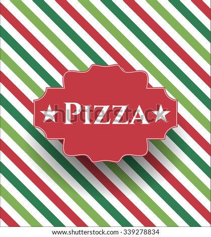 Pizza card or poster