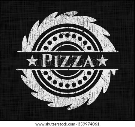 Pizza chalkboard emblem
