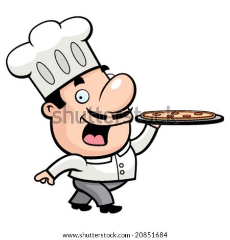 Pizza Chef - stock vector