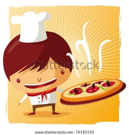 Pizza Chef Vector Pizza Chef