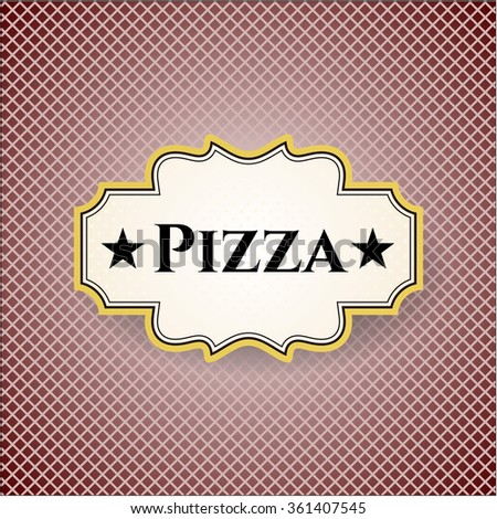 Pizza colorful poster