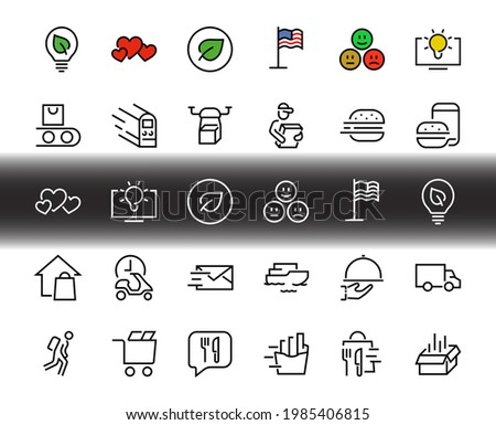PIZZA DELIVERY, and Food Icon Set Vector thin line, contains courier, home delivery, food ordering, fast transport, drone, ship, car, editable stroke. ICONS circuits.
