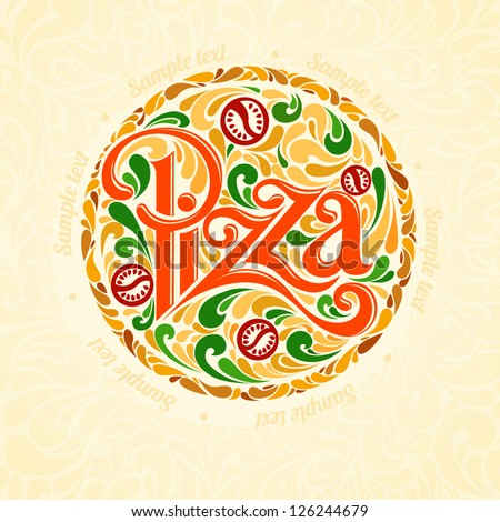 pizza design template stock vector illustration 126244679 pizza design 450x470