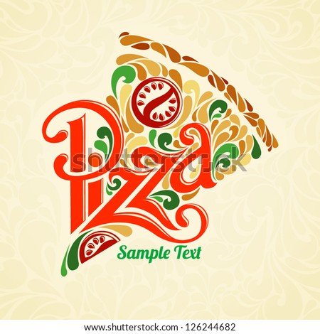 pizza design template stock vector 126244682 shutterstock pizza design 450x470