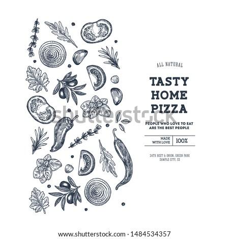 pizza design template italian