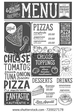 Royalty-free Vintage restaurant chalkboard items #288044495 Stock ...