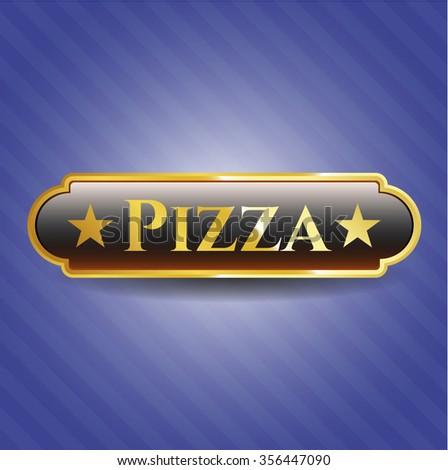 Pizza gold emblem