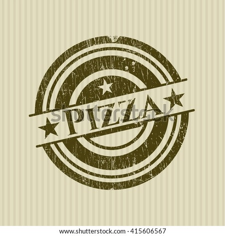 Pizza grunge seal