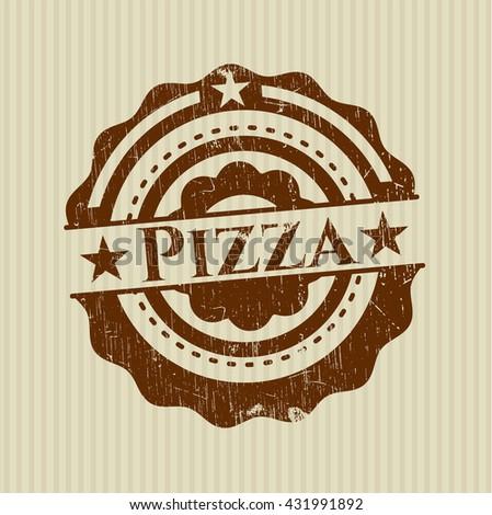 Pizza grunge stamp
